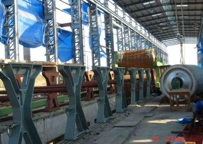 Erection of dryer frames in India for JK Paper